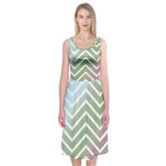 Ombre Zigzag 02 Midi Sleeveless Dress