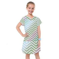 Ombre Zigzag 02 Kids  Drop Waist Dress