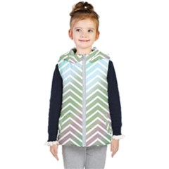 Ombre Zigzag 02 Kid s Hooded Puffer Vest