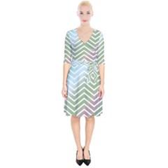 Ombre Zigzag 02 Wrap Up Cocktail Dress