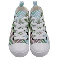 Ombre Zigzag 02 Kid s Mid Top Canvas Sneakers