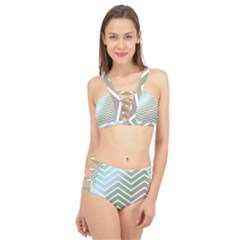 Ombre Zigzag 02 Cage Up Bikini Set