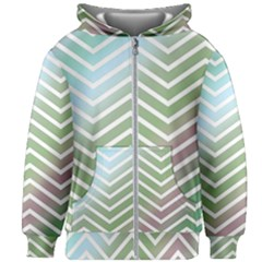 Ombre Zigzag 02 Kids Zipper Hoodie Without Drawstring