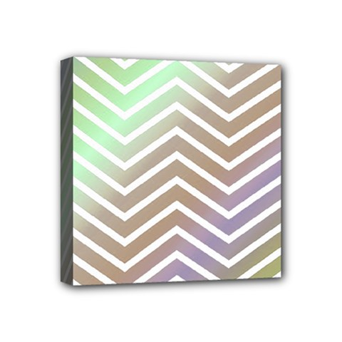 Ombre Zigzag 03 Mini Canvas 4  X 4