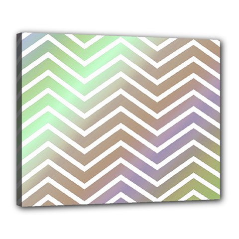 Ombre Zigzag 03 Canvas 20  X 16