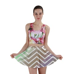 Ombre Zigzag 03 Mini Skirt