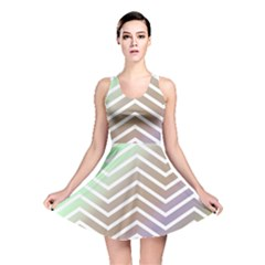 Ombre Zigzag 03 Reversible Skater Dress