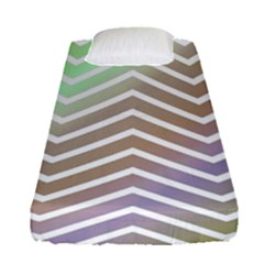 Ombre Zigzag 03 Fitted Sheet (single Size)