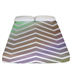 Ombre Zigzag 03 Fitted Sheet (king Size)