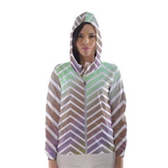 Ombre Zigzag 03 Hooded Windbreaker (women)