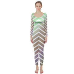 Ombre Zigzag 03 Long Sleeve Catsuit