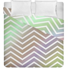 Ombre Zigzag 03 Duvet Cover Double Side (king Size)