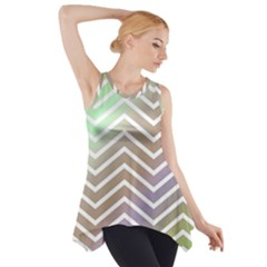 Ombre Zigzag 03 Side Drop Tank Tunic