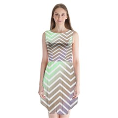 Ombre Zigzag 03 Sleeveless Chiffon Dress