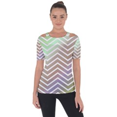 Ombre Zigzag 03 Short Sleeve Top