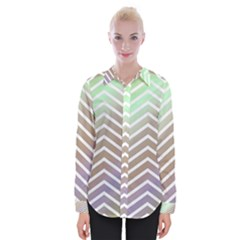 Ombre Zigzag 03 Womens Long Sleeve Shirt