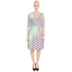 Ombre Zigzag 03 Wrap Up Cocktail Dress