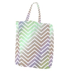 Ombre Zigzag 03 Giant Grocery Tote