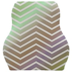 Ombre Zigzag 03 Car Seat Velour Cushion