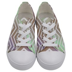 Ombre Zigzag 03 Kids  Low Top Canvas Sneakers