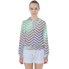 Ombre Zigzag 03 Women s Tie Up Sweat