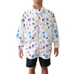 Colorful Abstract Symbols Windbreaker (kids)