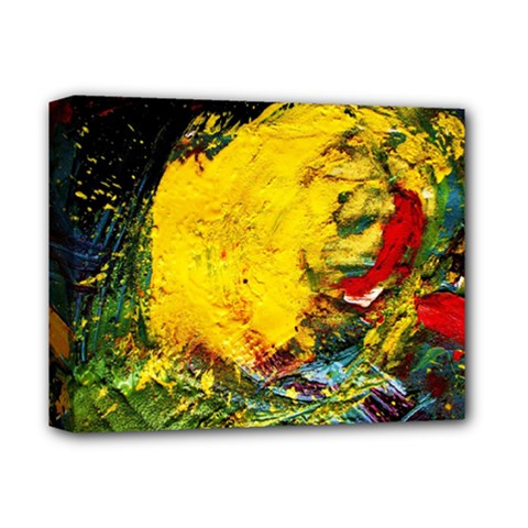 Yellow Chik Deluxe Canvas 14  X 11  (stretched)