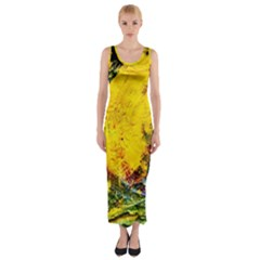 Yellow Chik Fitted Maxi Dress
