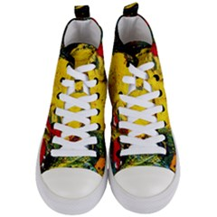 Yellow Chik Women s Mid Top Canvas Sneakers