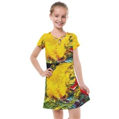 Yellow Chik Kids  Cross Web Dress