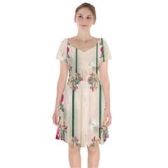 Roses 1944106 960 720 Short Sleeve Bardot Dress