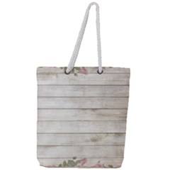 On Wood 2188537 1920 Full Print Rope Handle Tote (large)