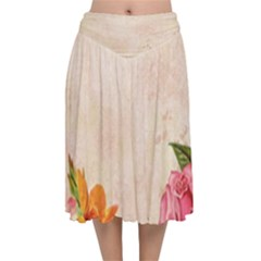 Flower 1646045 1920 Velvet Flared Midi Skirt