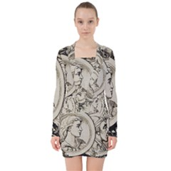 Young 1515867 1280 V Neck Bodycon Long Sleeve Dress
