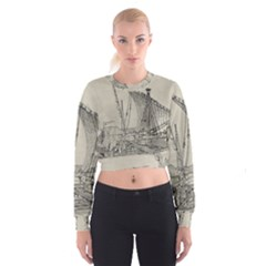 Ship 1515860 1280 Cropped Sweatshirt