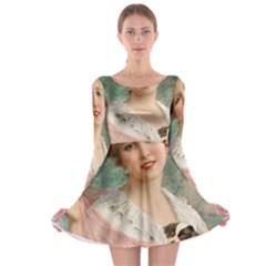 Vintage 1501585 1280 Copy Long Sleeve Skater Dress