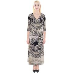Snail 1618209 1280 Quarter Sleeve Wrap Maxi Dress