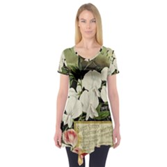 Flowers 1776617 1920 Short Sleeve Tunic