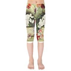 Flowers 1776617 1920 Kids  Capri Leggings