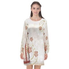 Background 1775358 1920 Long Sleeve Chiffon Shift Dress