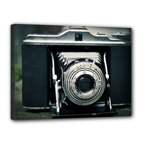 Photo Camera Canvas 16  X 12  (stretched)