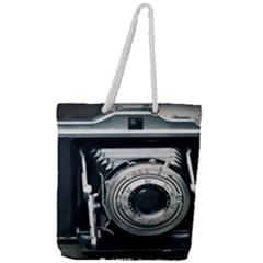 Photo Camera Full Print Rope Handle Tote (large)
