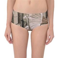 Flea Market Redord Player Mid Waist Bikini Bottoms