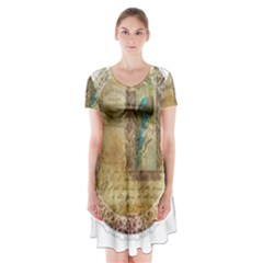 Tag 1763336 1280 Short Sleeve V Neck Flare Dress