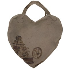 Camera Old Giant Heart Shaped Tote