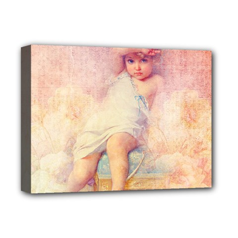 Baby In Clouds Deluxe Canvas 16  X 12  (stretched)