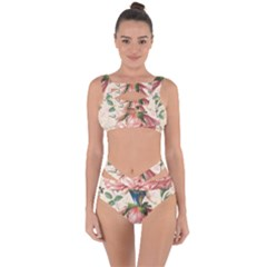 Flower Girl Bandaged Up Bikini Set