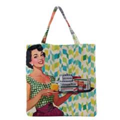 Retro Cokk Grocery Tote Bag by vintage2030