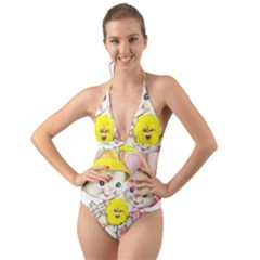 Rabbits 1731749 1920 Halter Cut Out One Piece Swimsuit