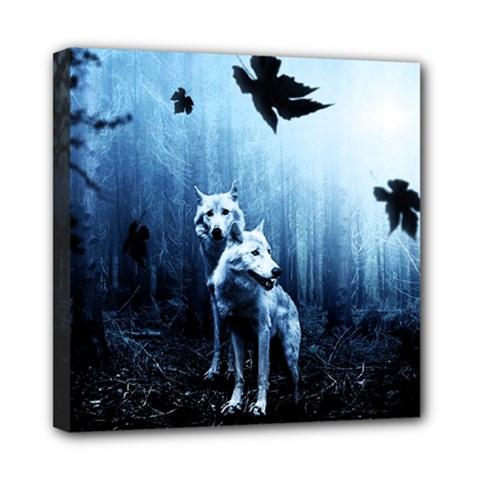 Wolfs Mini Canvas 8  X 8  (stretched)